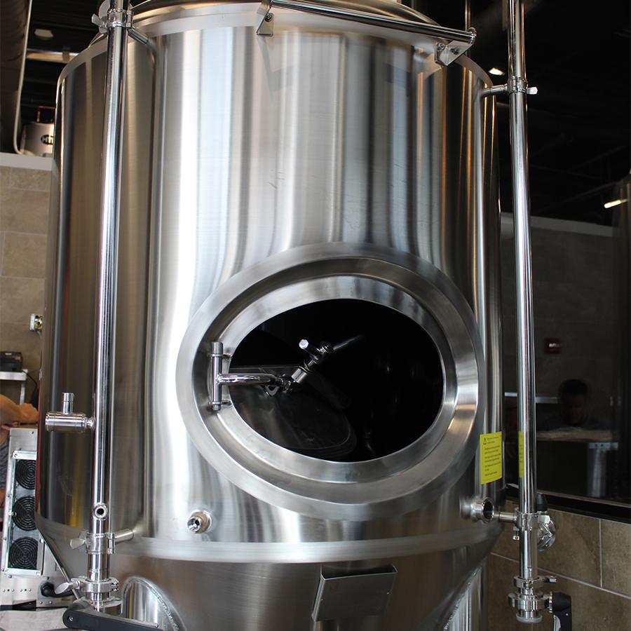 Wormtown Brewery interior brew vat